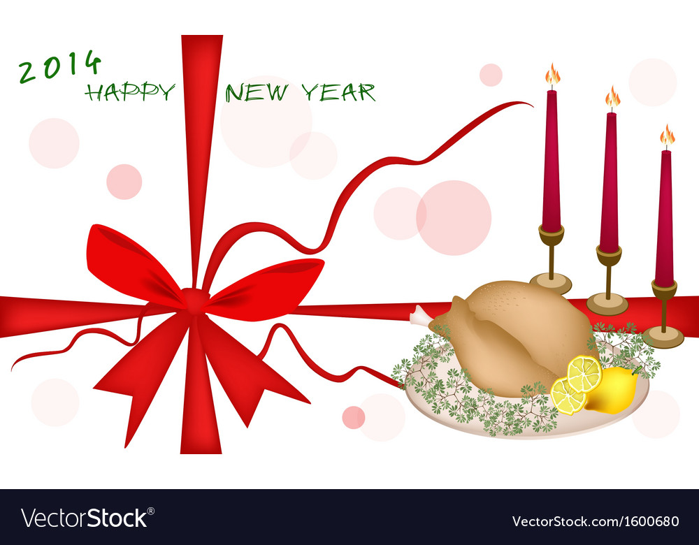 New year gift card or new year dinner voucher vector | Price: 1 Credit (USD $1)
