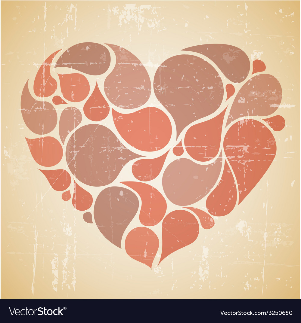 Red abstract retro heart vector | Price: 1 Credit (USD $1)