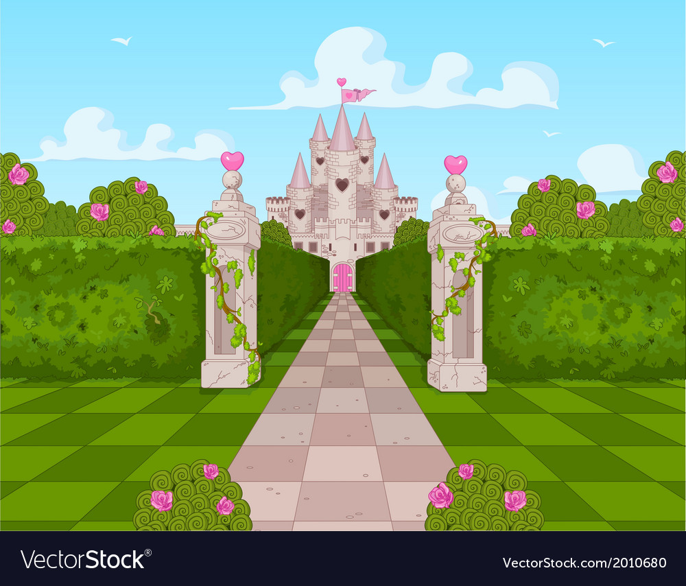 Romantic castle vector | Price: 3 Credit (USD $3)