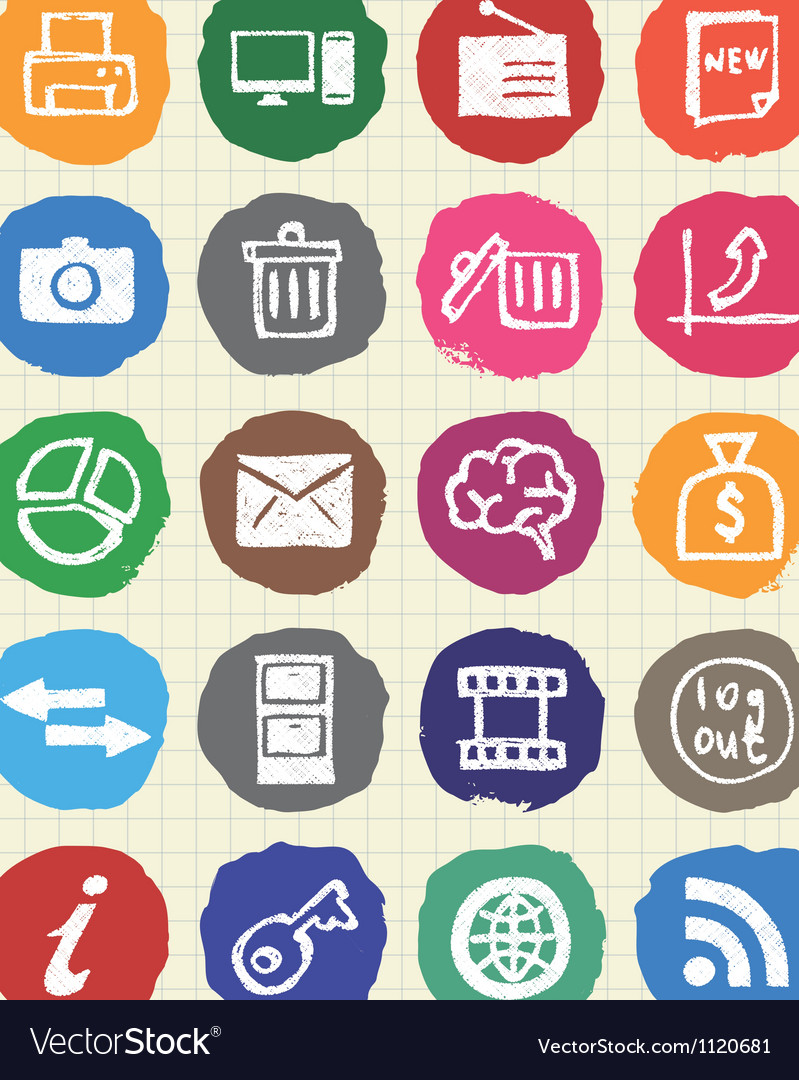 Doodle internet and finance icons vector | Price: 1 Credit (USD $1)