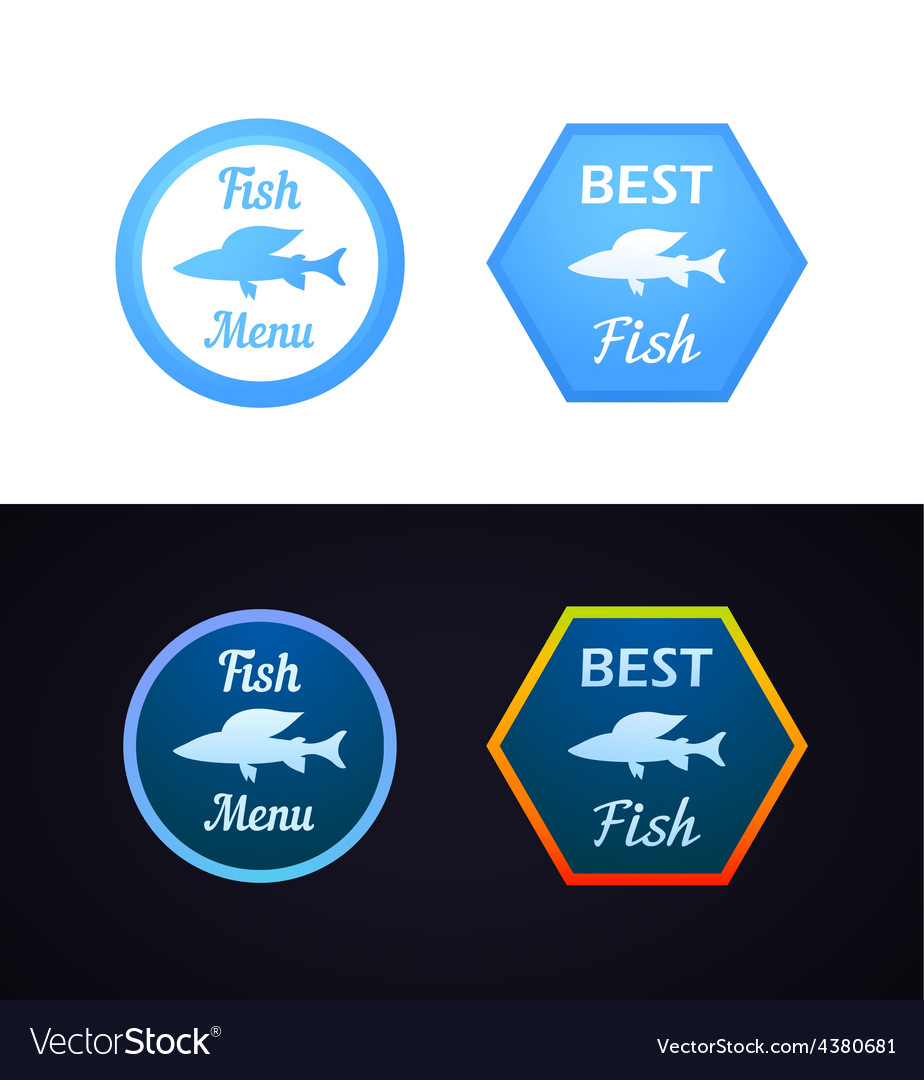 Grayling fish on label vector   Price: 1 Credit (USD $1)