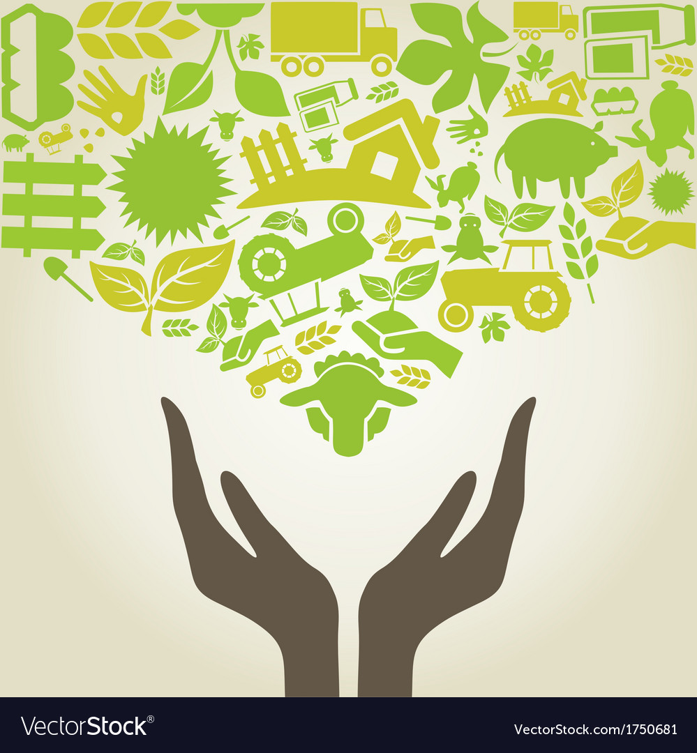 Hand agriculture vector | Price: 1 Credit (USD $1)