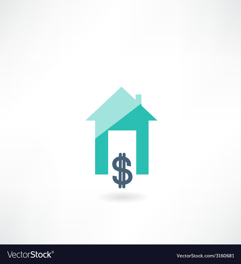 House with dollar icon vector | Price: 1 Credit (USD $1)