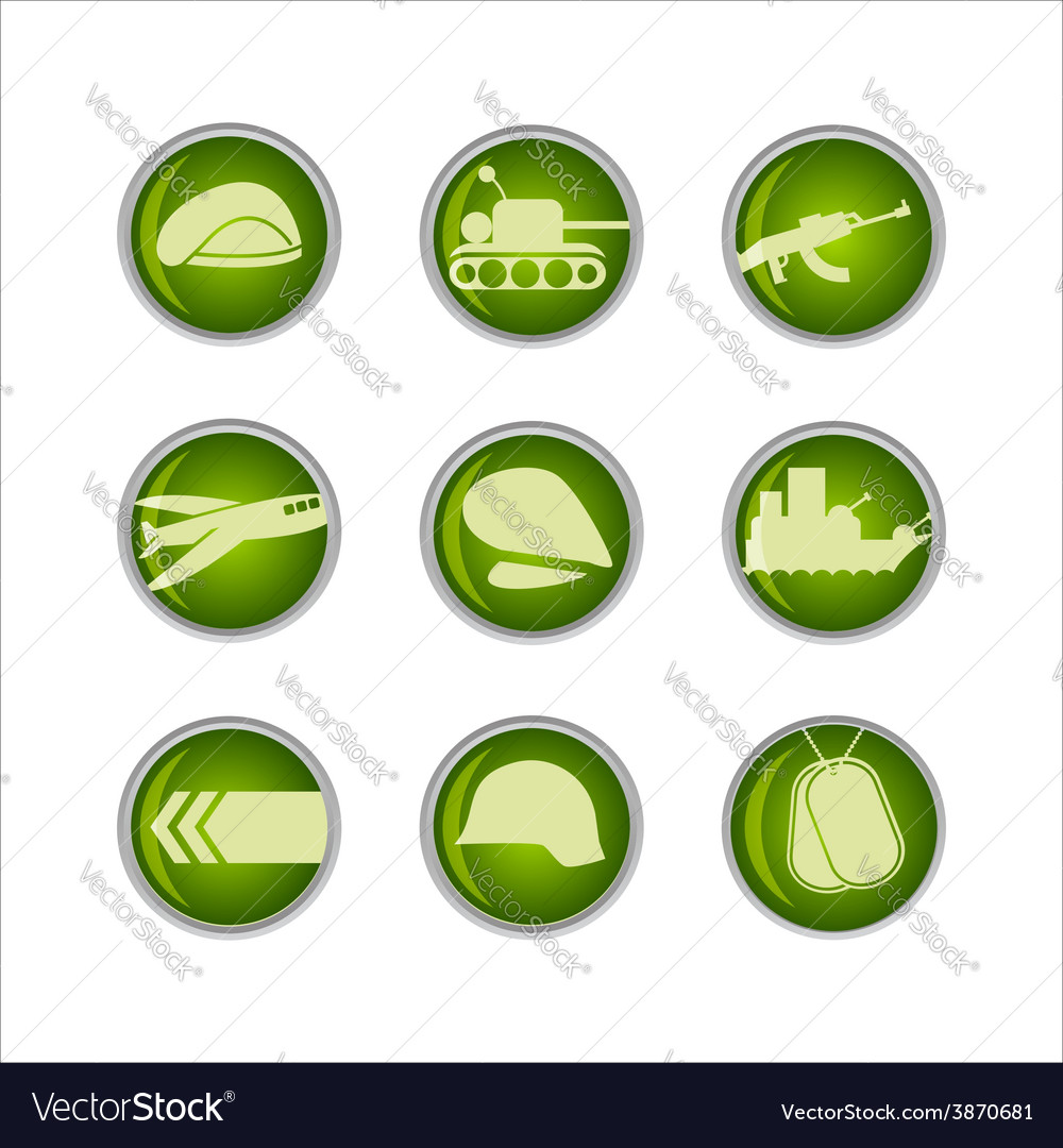 Military icon vector | Price: 1 Credit (USD $1)