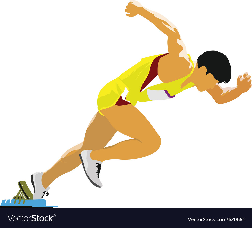 Runner silhouette vector   Price: 1 Credit (USD $1)