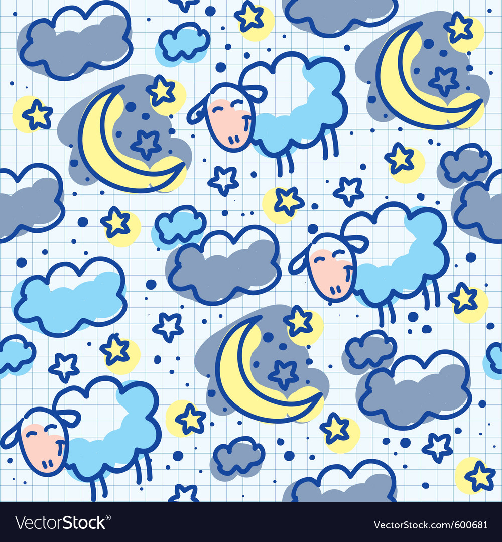 Sheep pattern vector | Price: 1 Credit (USD $1)