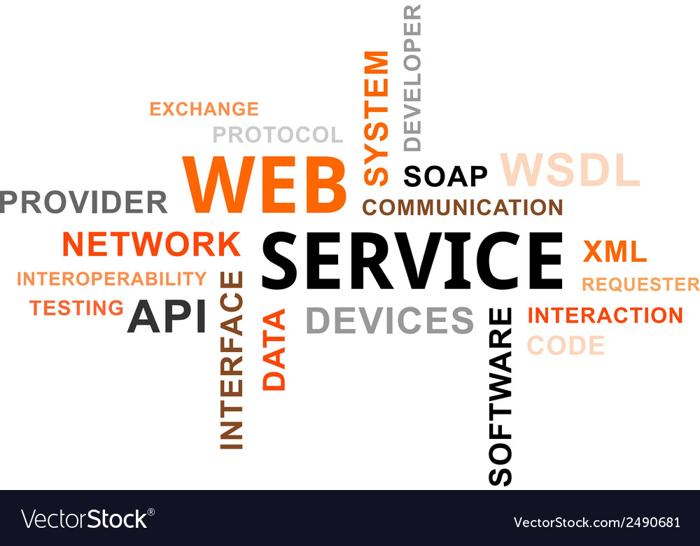 Word cloud web service vector | Price: 1 Credit (USD $1)