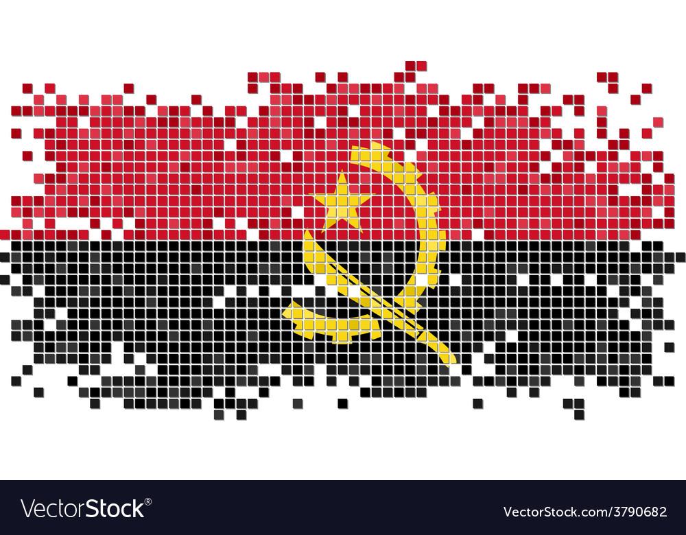 Angolan grunge tile flag vector   Price: 1 Credit (USD $1)