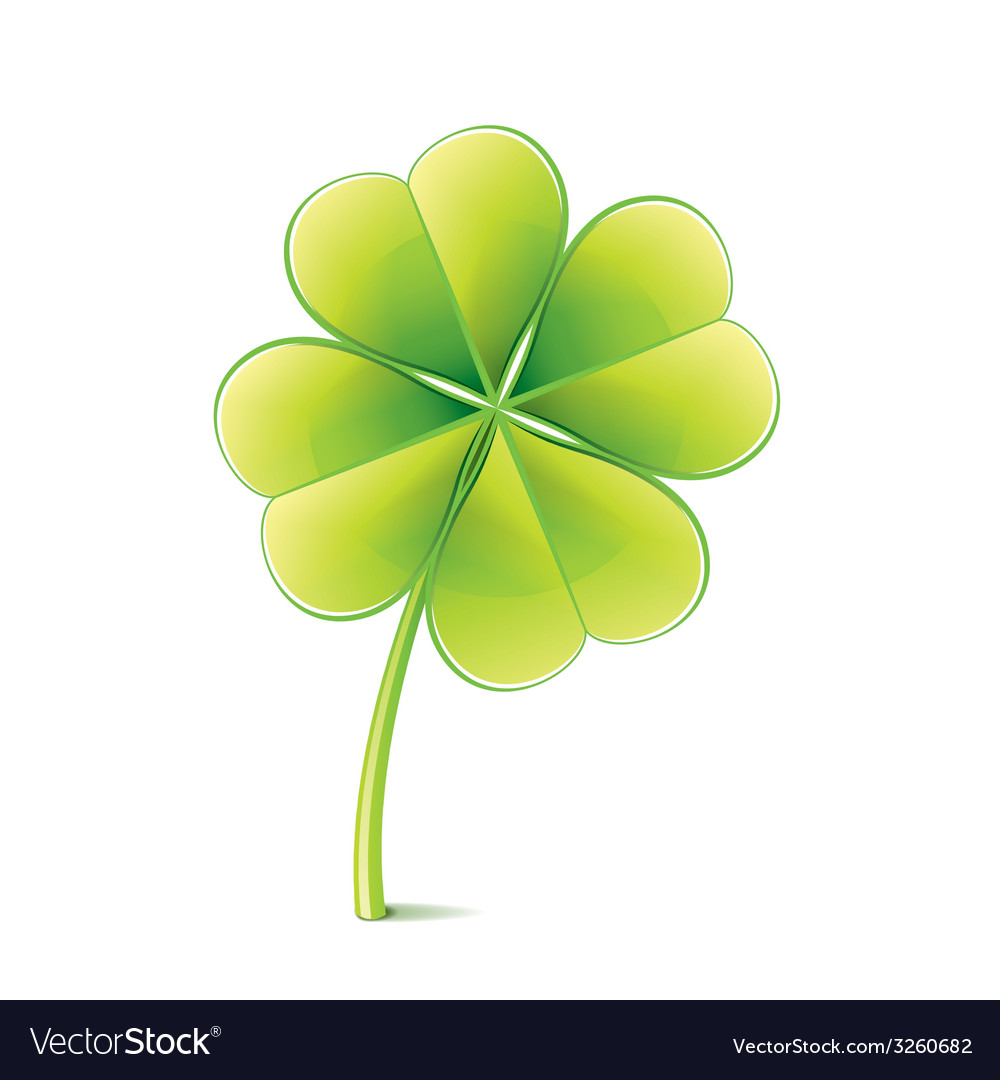 Clover leaf isolated vector | Price: 1 Credit (USD $1)