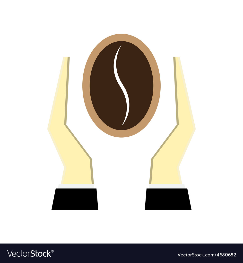 Coffee bean with hands vector   Price: 1 Credit (USD $1)