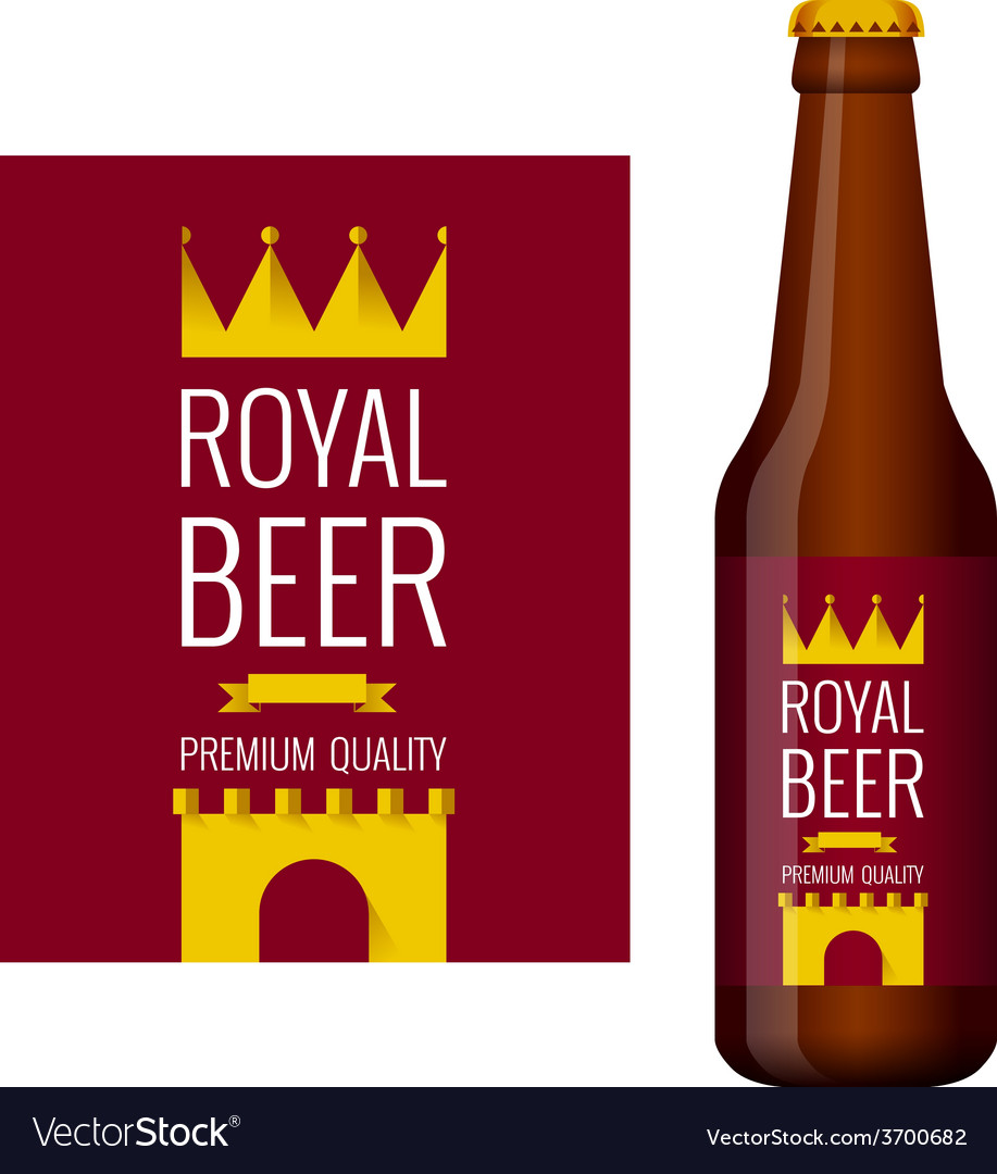 Design of beer label and bottle of beer vector | Price: 1 Credit (USD $1)