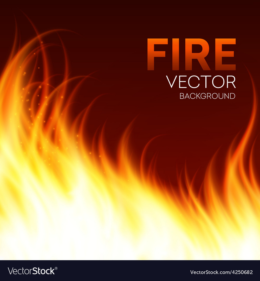 Fire realistic background vector | Price: 1 Credit (USD $1)