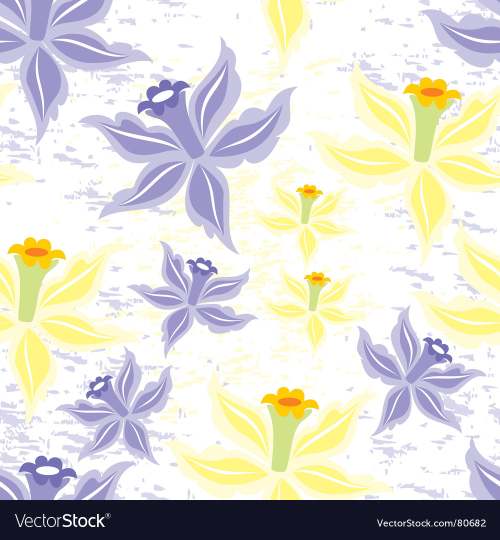 Flower seamless background vector | Price: 1 Credit (USD $1)