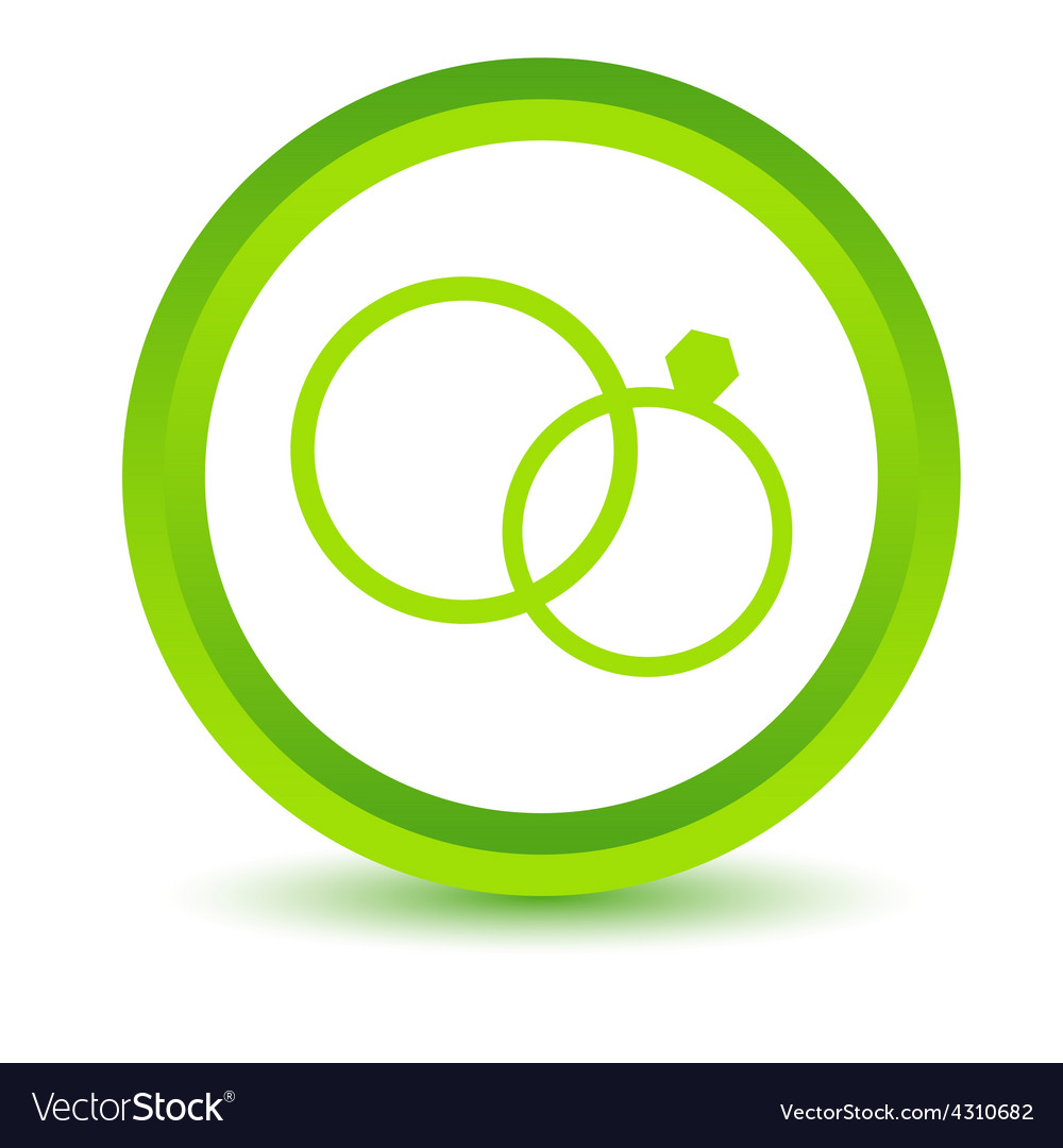 Green marriage icon vector | Price: 1 Credit (USD $1)