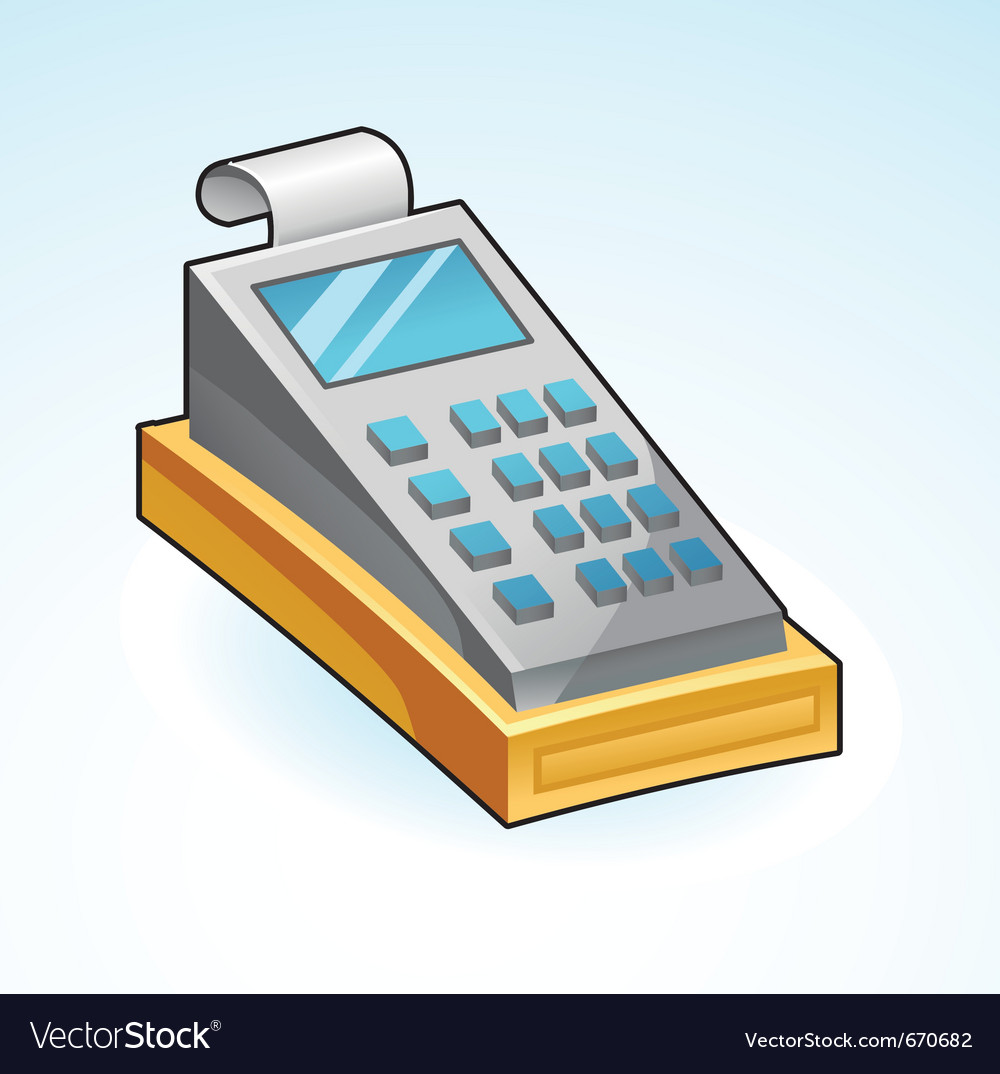 Icon cash register - vector | Price: 1 Credit (USD $1)