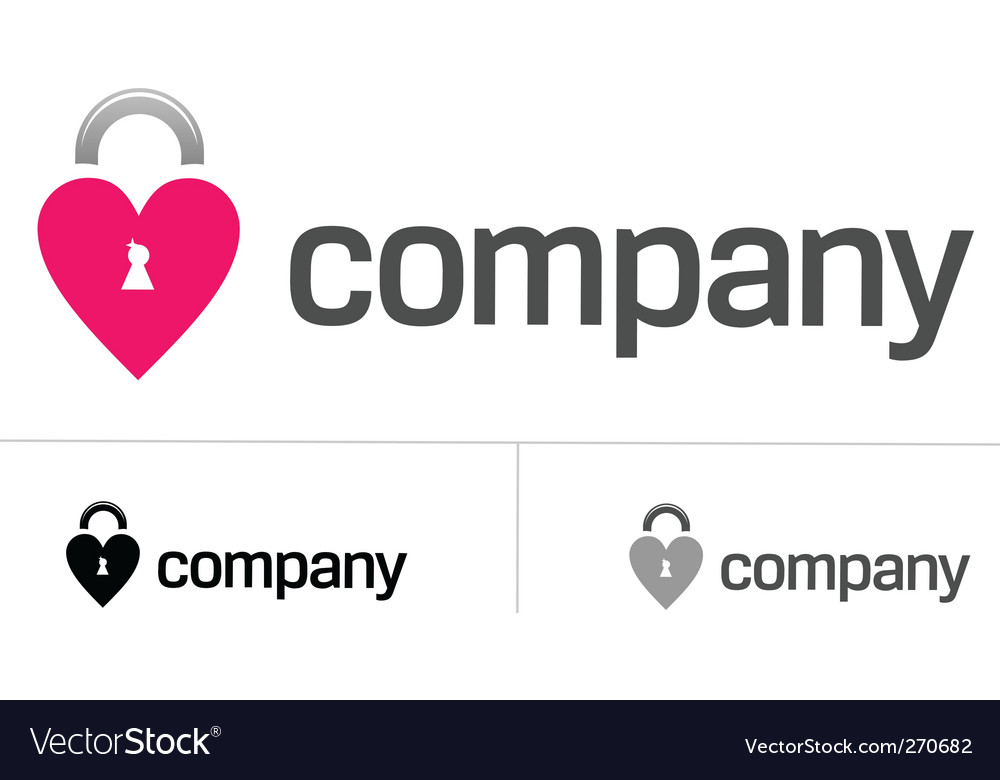 Locks of love logo vector | Price: 1 Credit (USD $1)