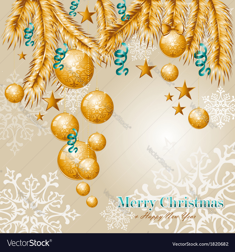 Merry christmas elements background eps10 file vector | Price: 1 Credit (USD $1)