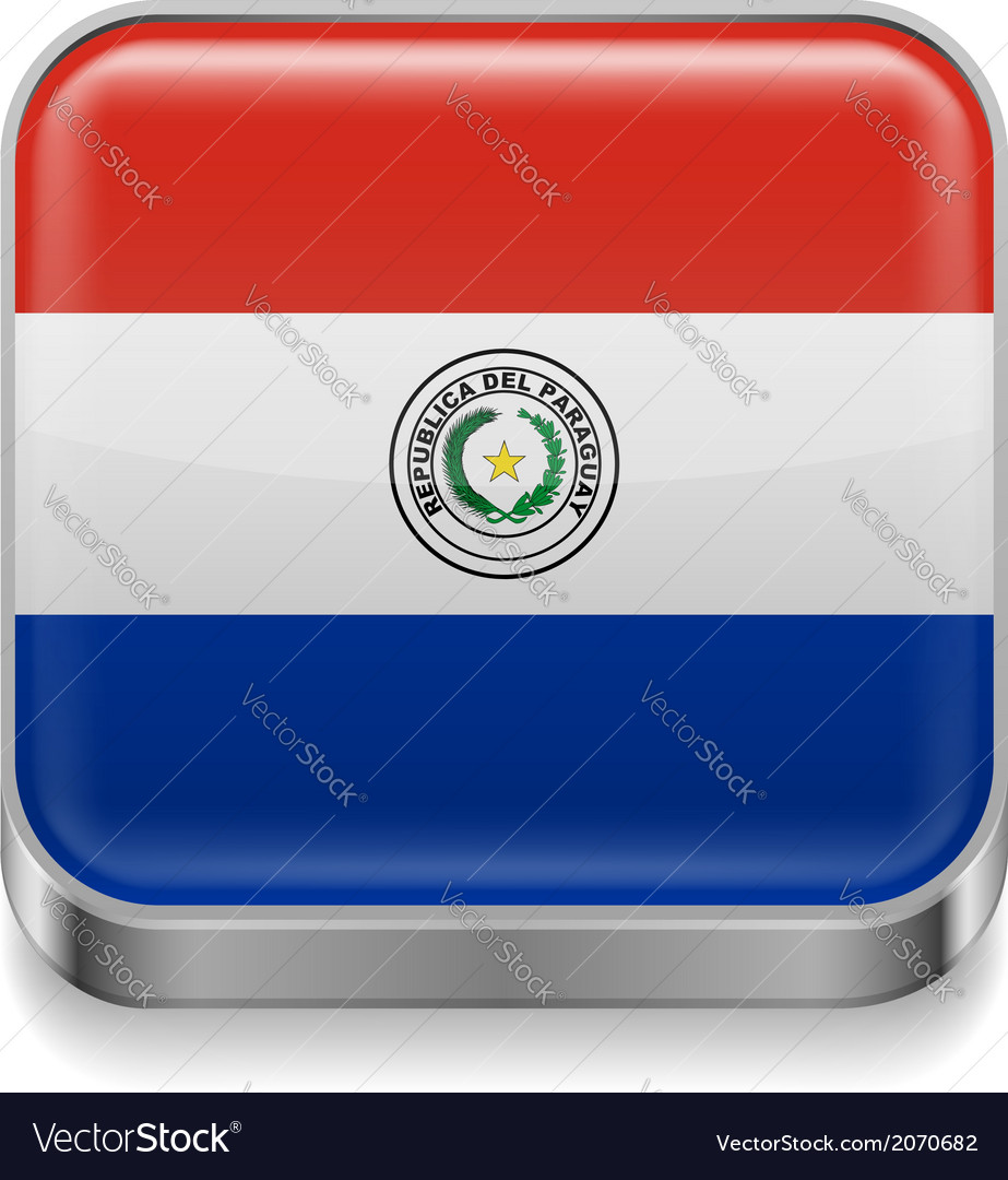 Metal icon of paraguay vector | Price: 1 Credit (USD $1)