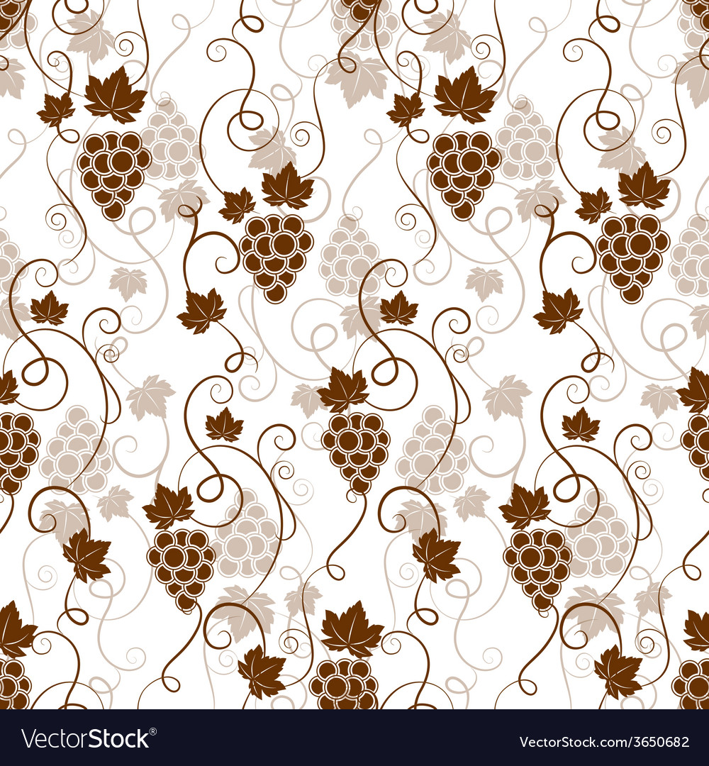 Seamless background pattern of grapes vector | Price: 1 Credit (USD $1)