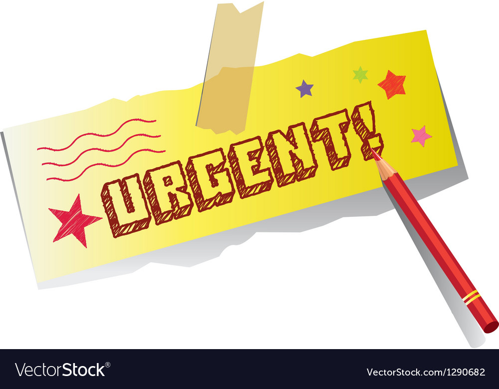 Urgent memo vector | Price: 1 Credit (USD $1)