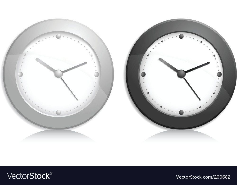 Wall clock object vector | Price: 1 Credit (USD $1)
