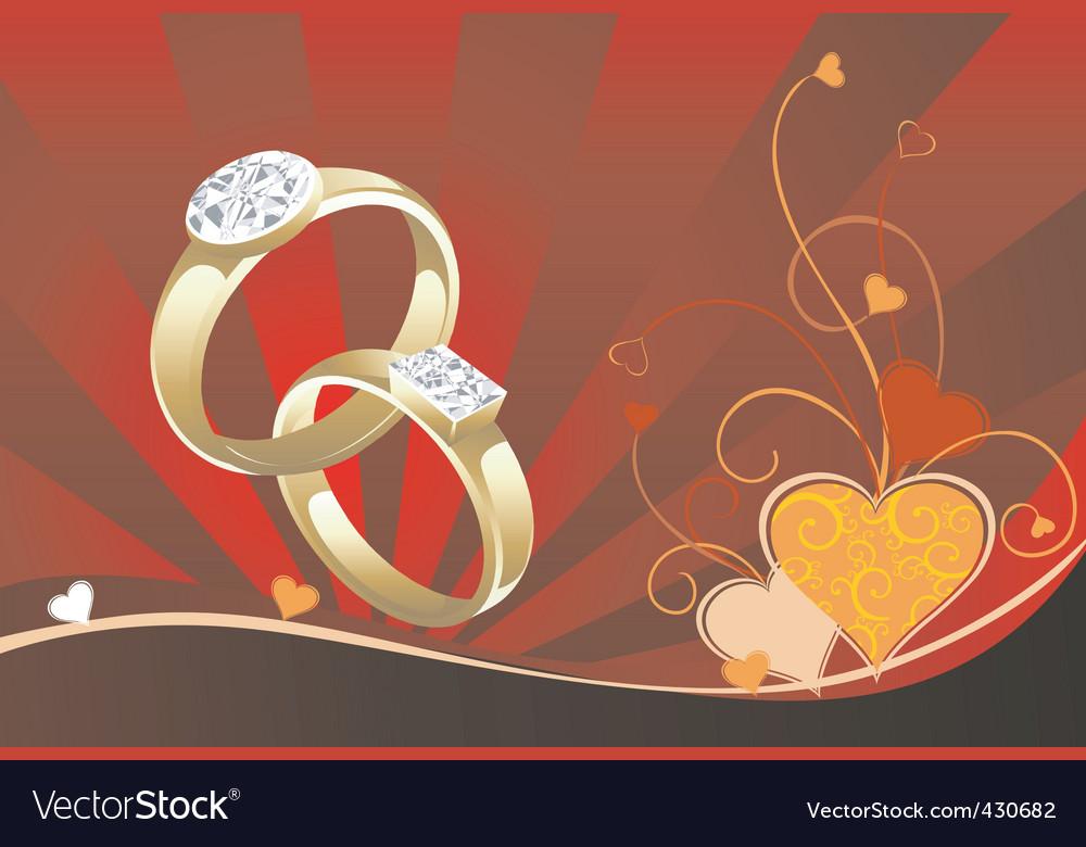 Wedding rings vector | Price: 1 Credit (USD $1)