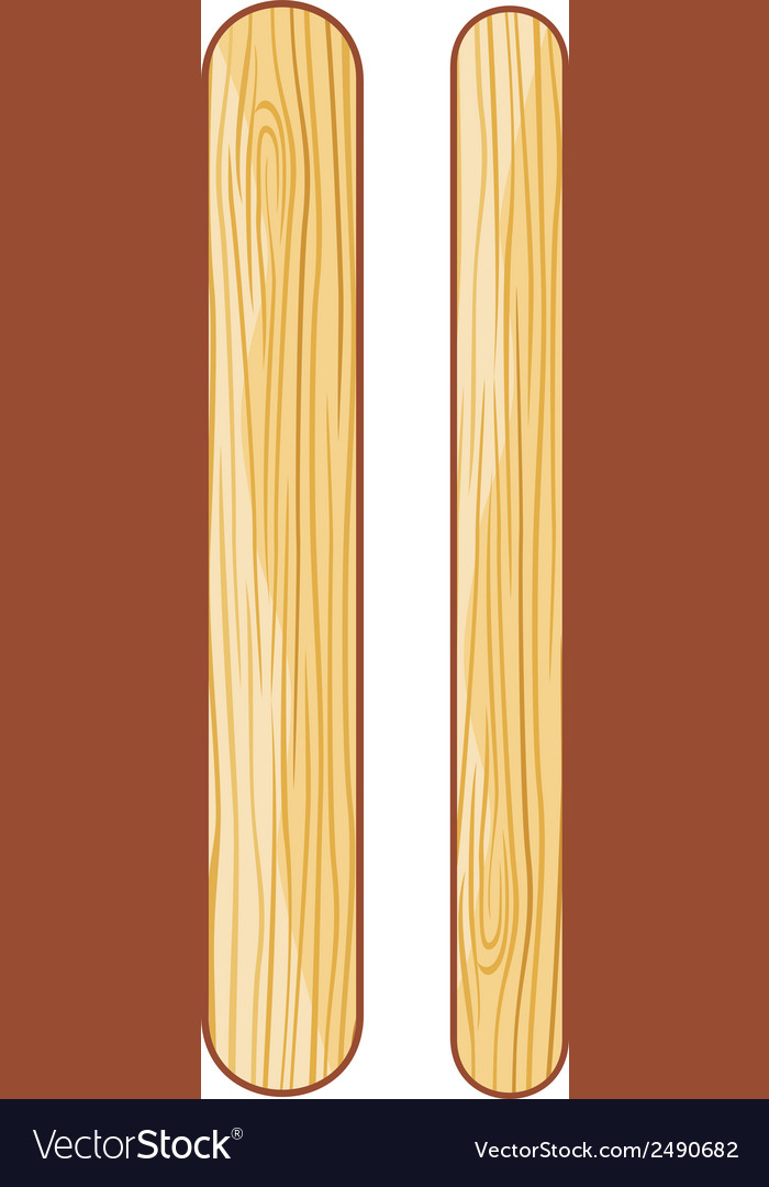 Wooden ice cream sticks vector   Price: 1 Credit (USD $1)