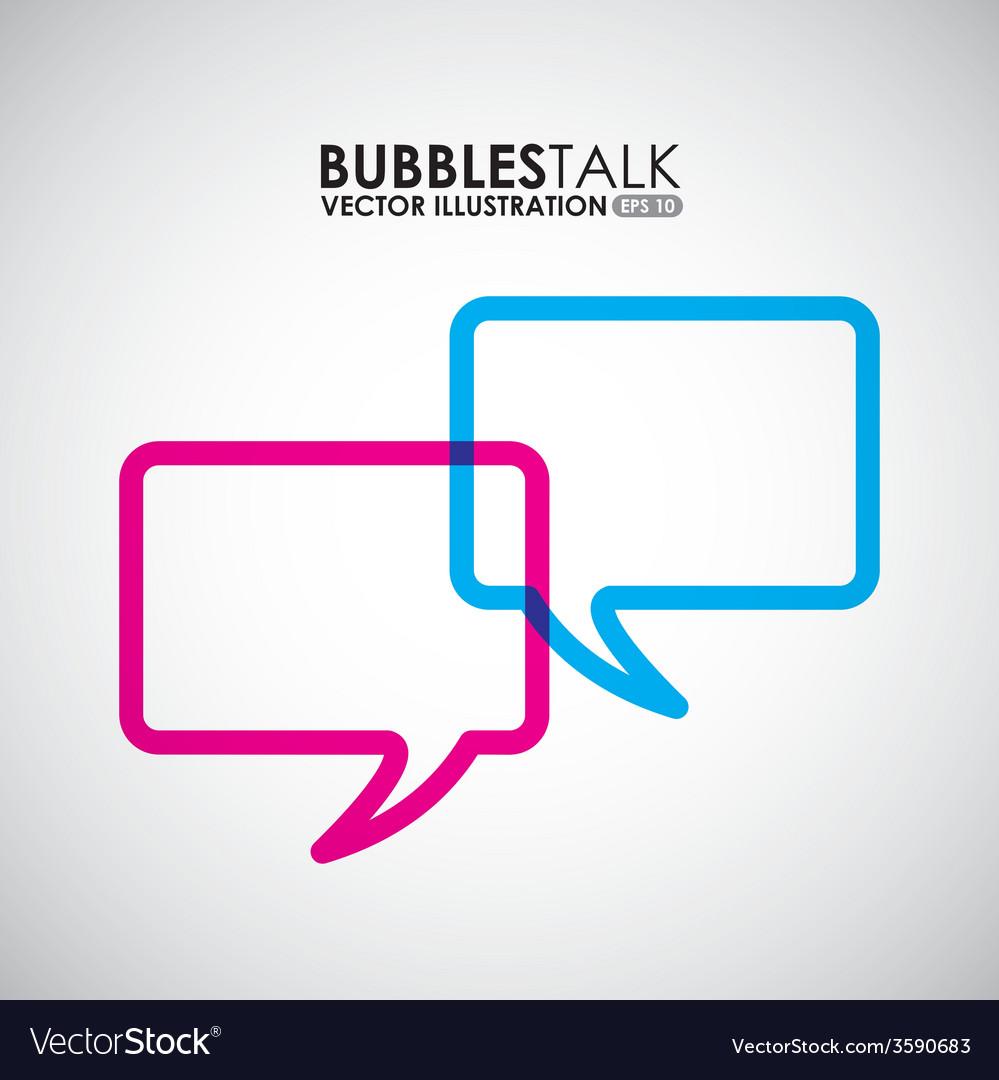 Bubbles talk vector | Price: 1 Credit (USD $1)