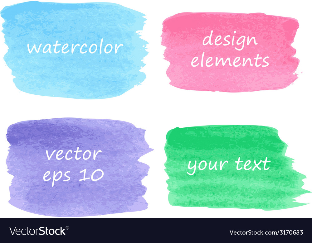 Collection of watercolor stains vector | Price: 1 Credit (USD $1)