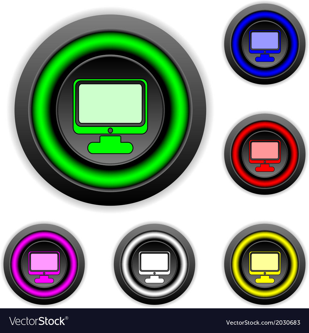 Computer buttons set vector | Price: 1 Credit (USD $1)
