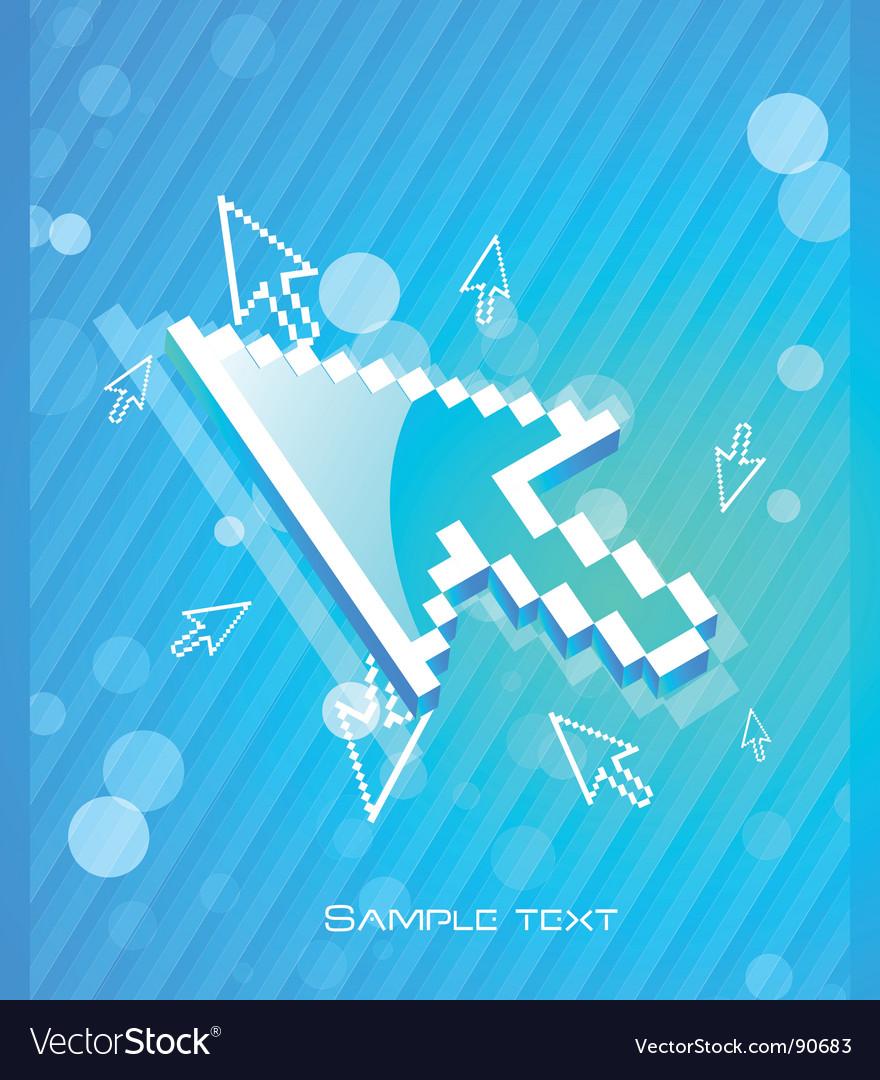Digital cursor vector | Price: 1 Credit (USD $1)
