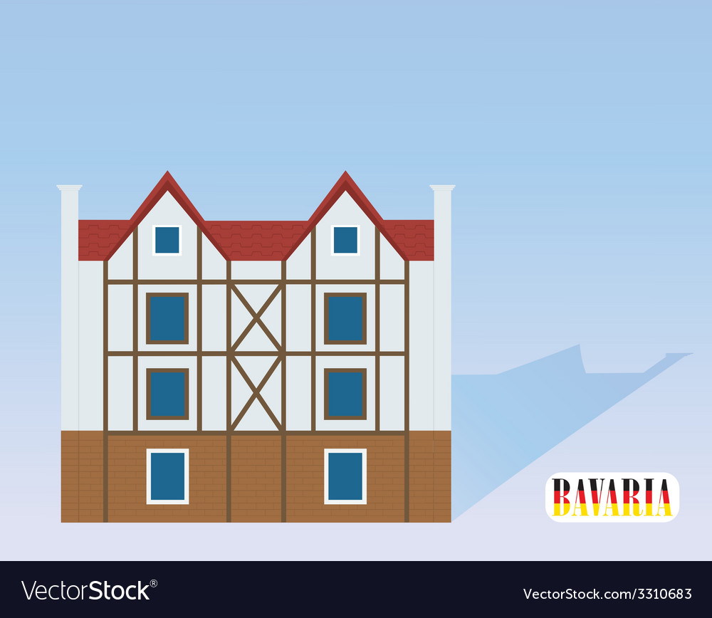 German house on a light background vector | Price: 1 Credit (USD $1)