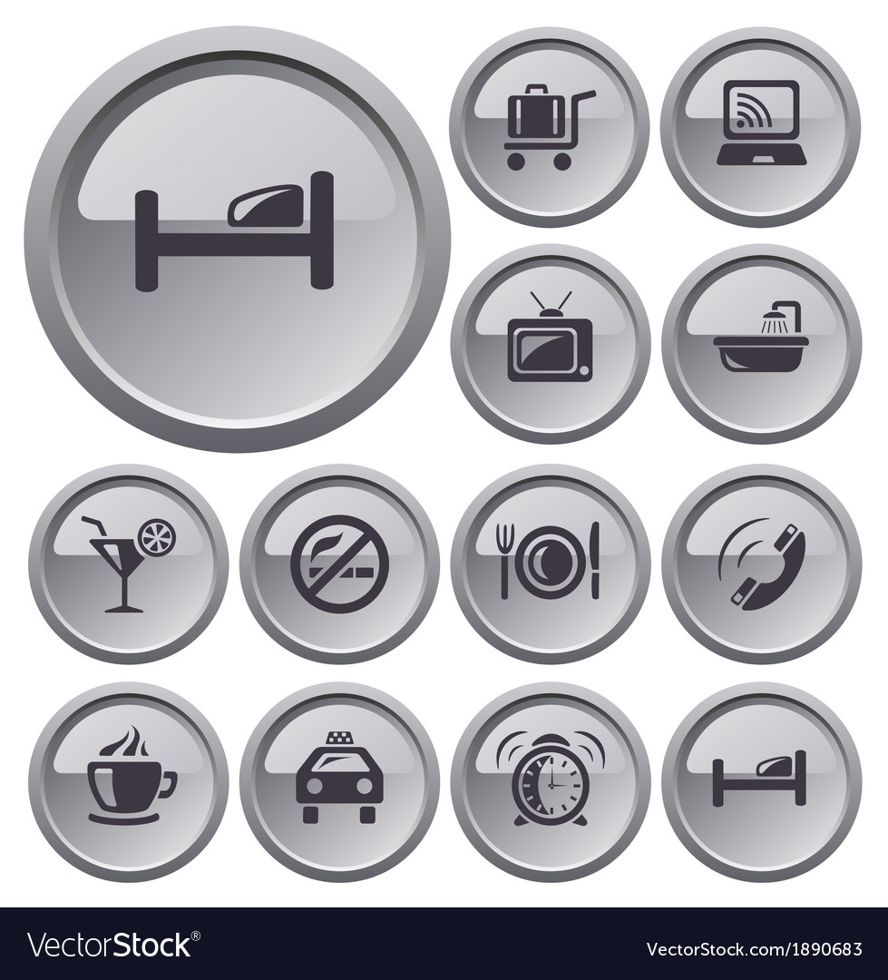 Hotel buttons vector | Price: 1 Credit (USD $1)