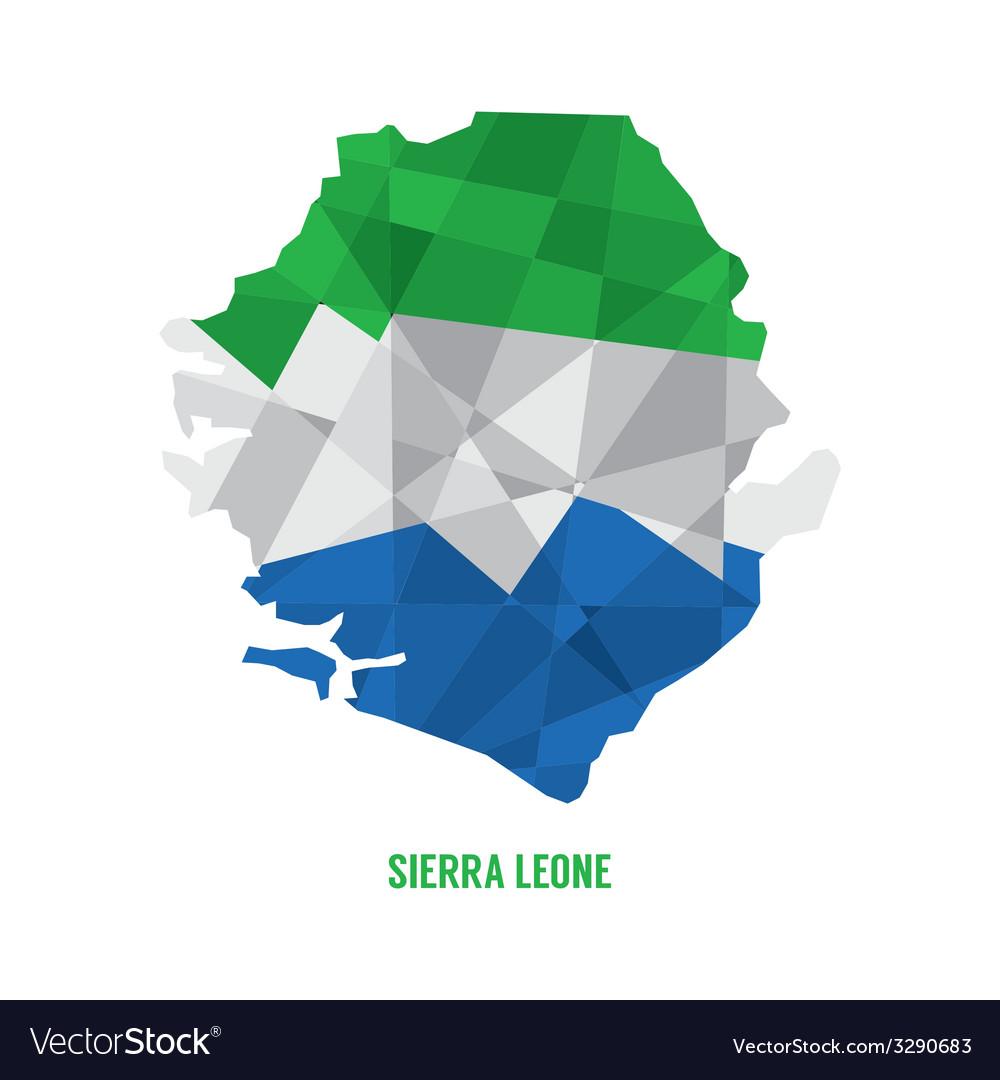 Map of sierra leone vector | Price: 1 Credit (USD $1)