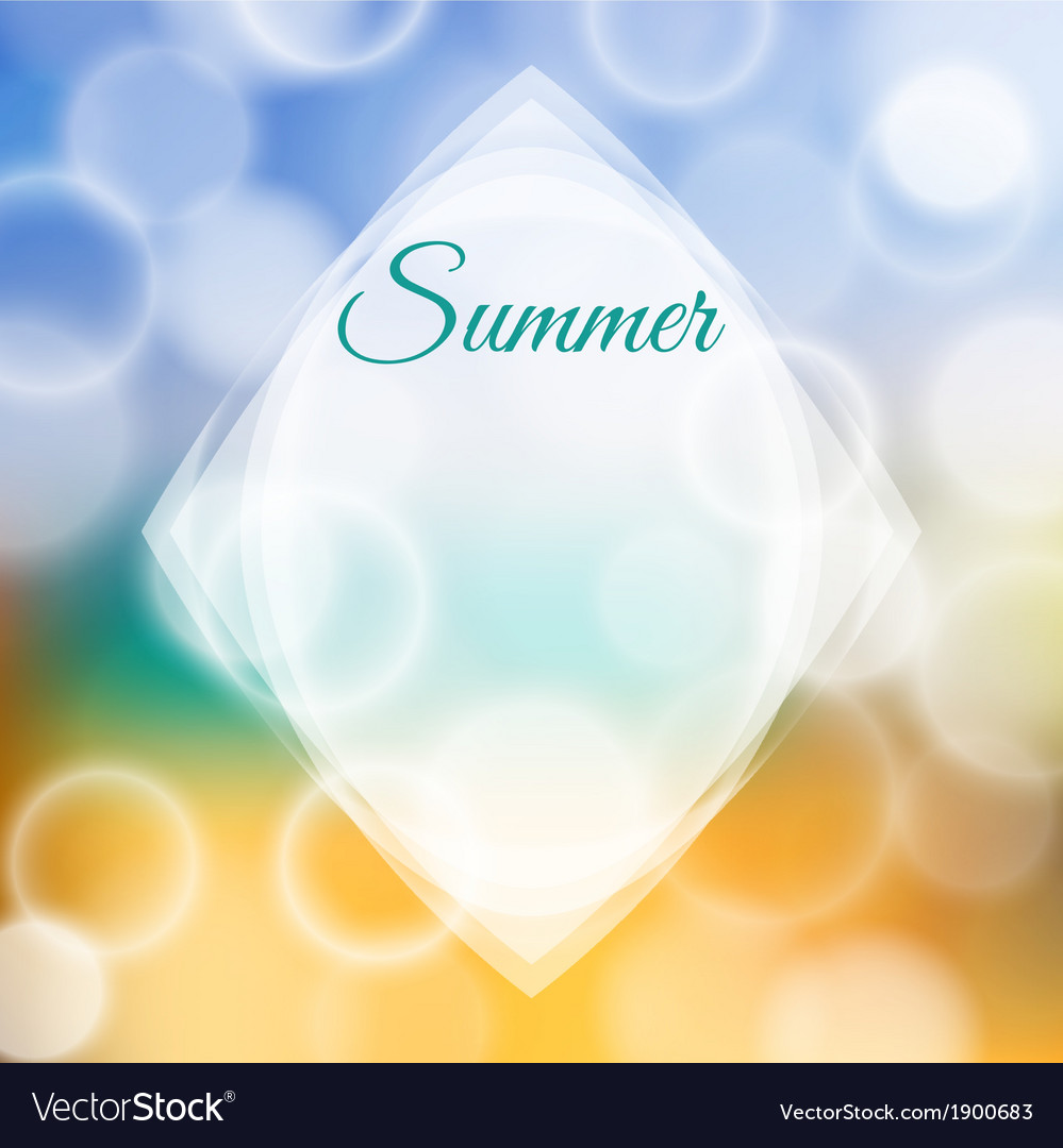 Summer background with bokeh vector   Price: 1 Credit (USD $1)