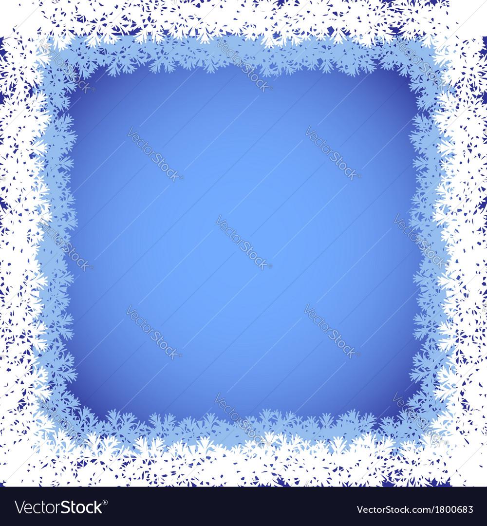 Winter frame vector | Price: 1 Credit (USD $1)