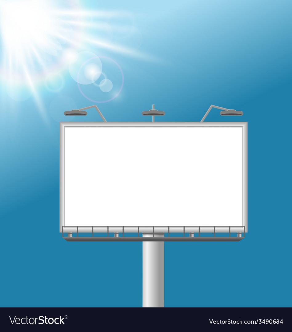 Billboard on sky background vector | Price: 1 Credit (USD $1)