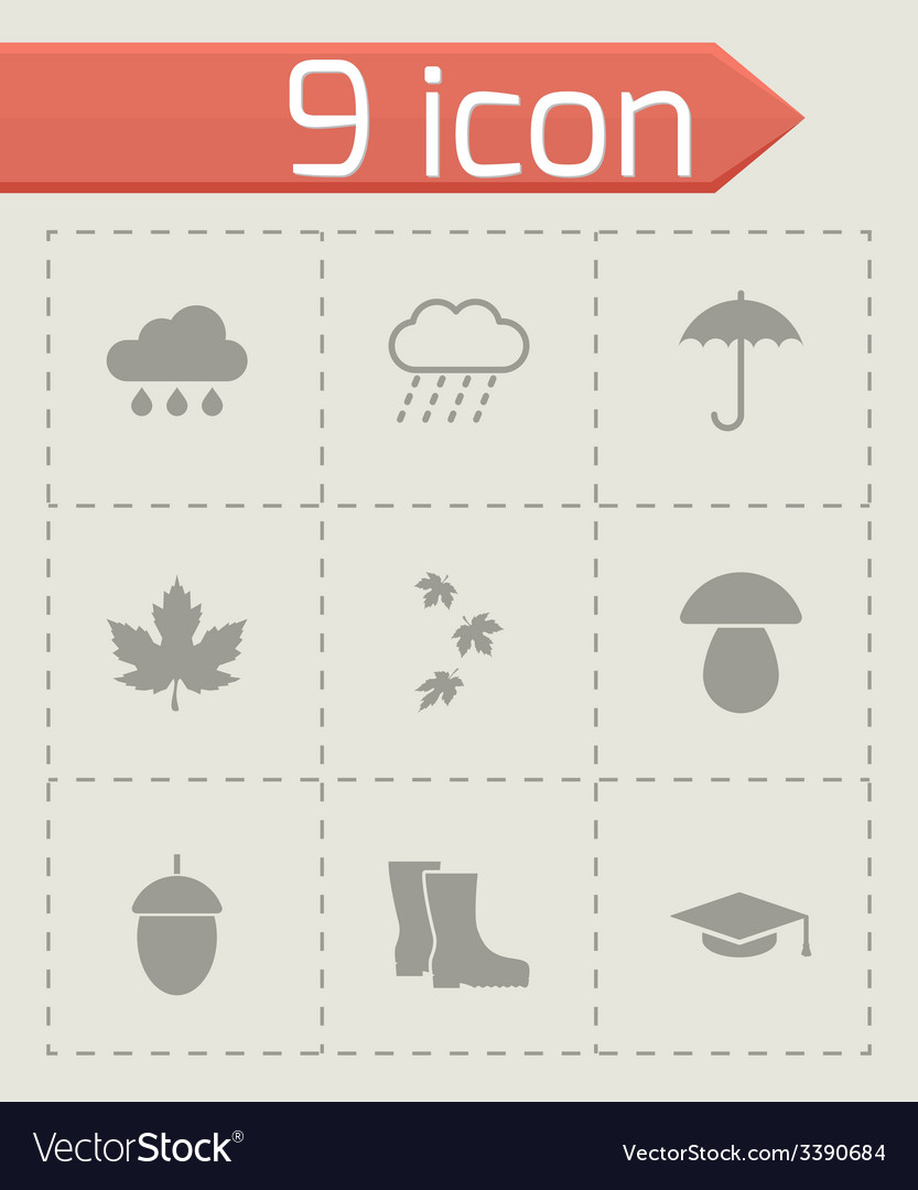 Black academic icon set vector | Price: 1 Credit (USD $1)