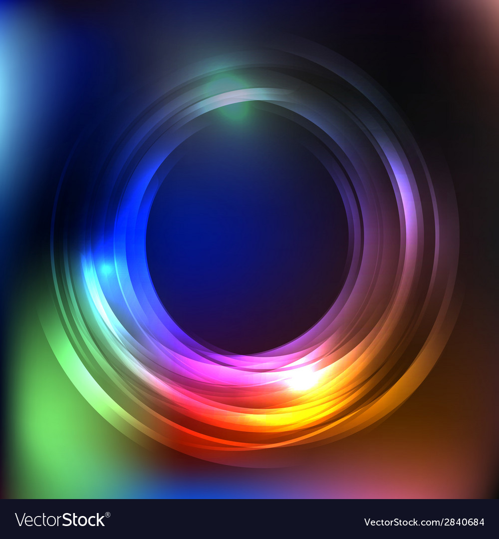 Blue business abstract circle icon vector