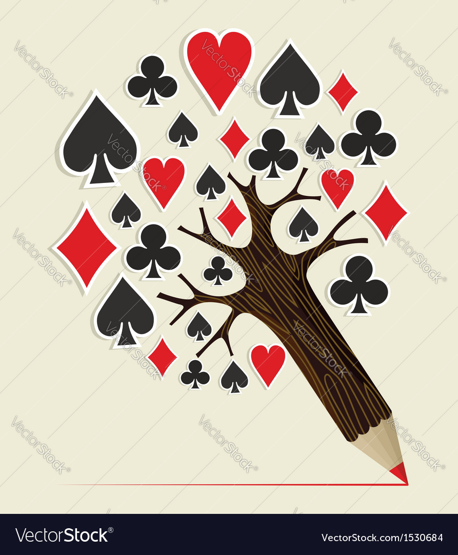 Casino poker concept tree vector | Price: 1 Credit (USD $1)