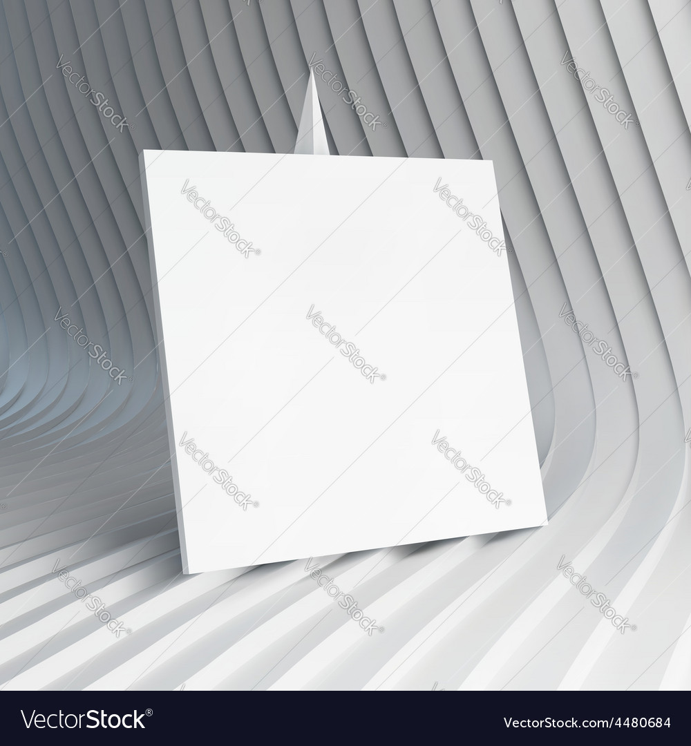 Empty white business card 3d vector | Price: 3 Credit (USD $3)