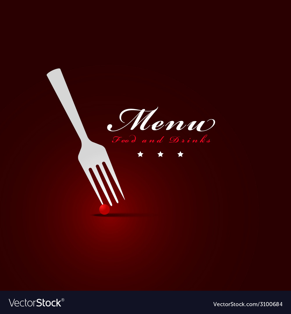 Fork menu restaurant cover vector | Price: 1 Credit (USD $1)