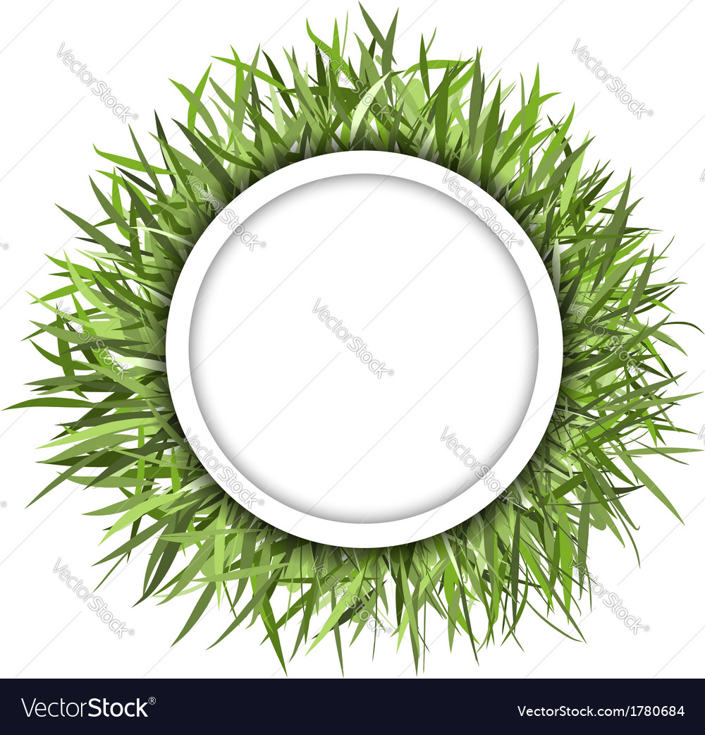 Grass frame green for your design vector | Price: 1 Credit (USD $1)