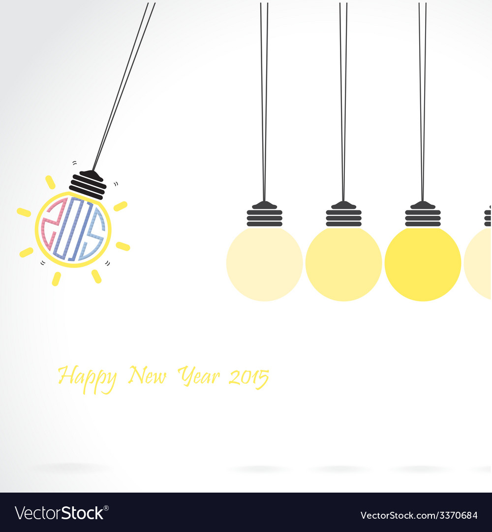 Happy new year 2015 card design vector | Price: 1 Credit (USD $1)