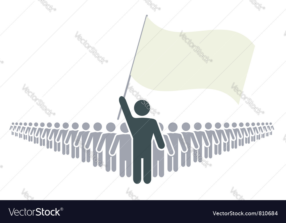 Leader and flag vector | Price: 1 Credit (USD $1)