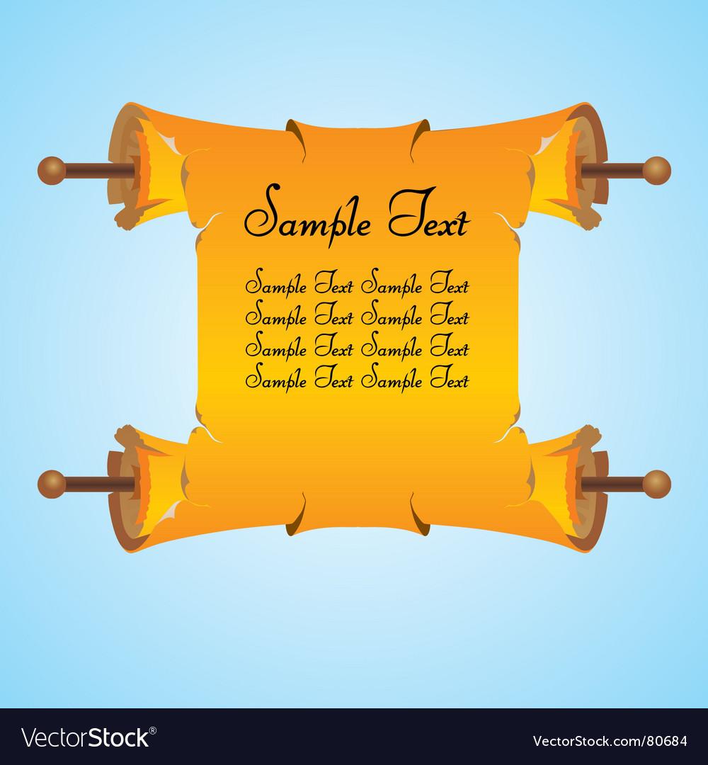 Scroll vector | Price: 1 Credit (USD $1)