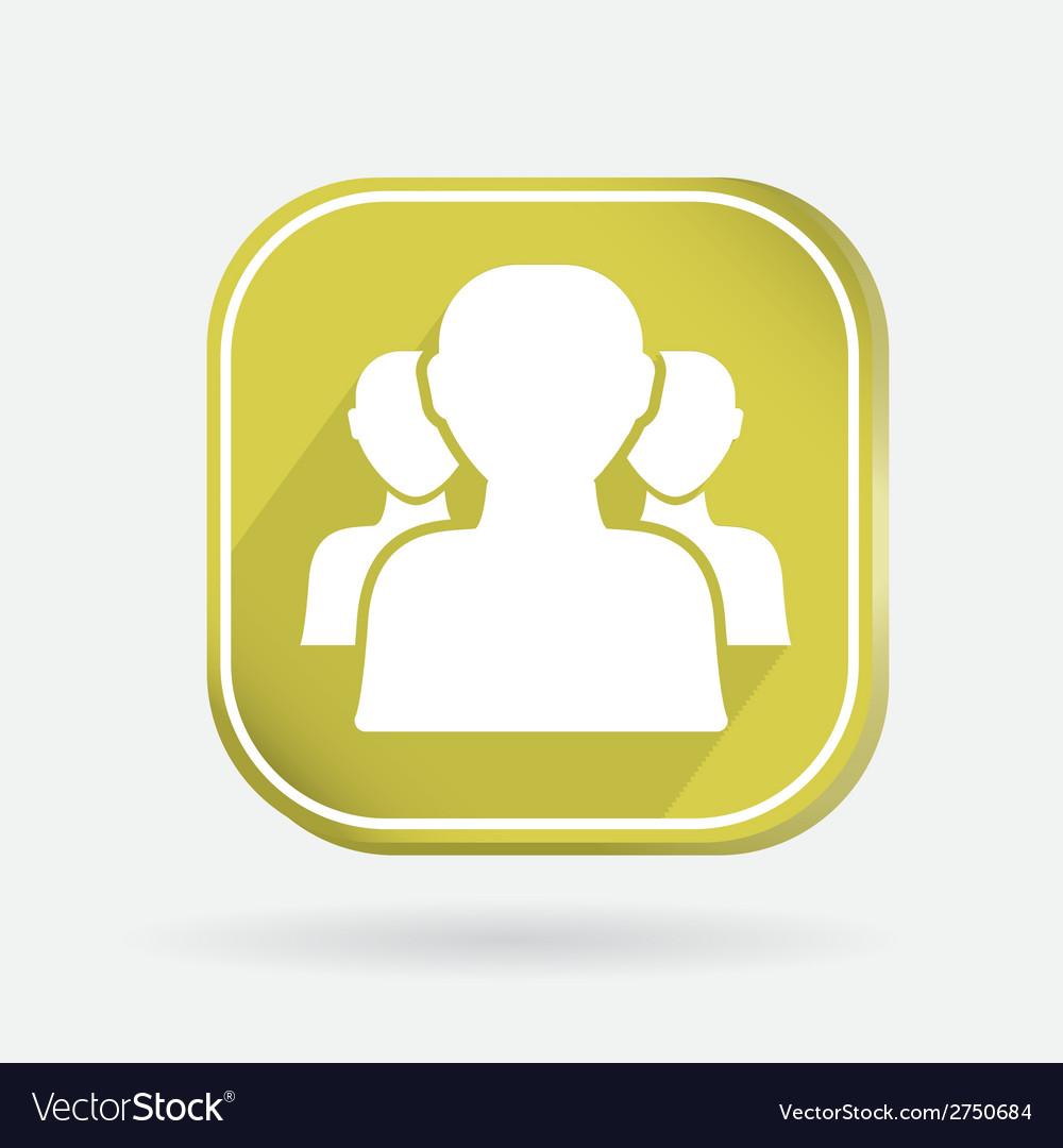 Square icon silhouette of a men social media vector | Price: 1 Credit (USD $1)