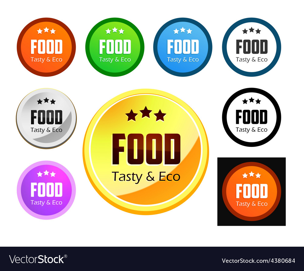 Taste and eco food vector | Price: 1 Credit (USD $1)