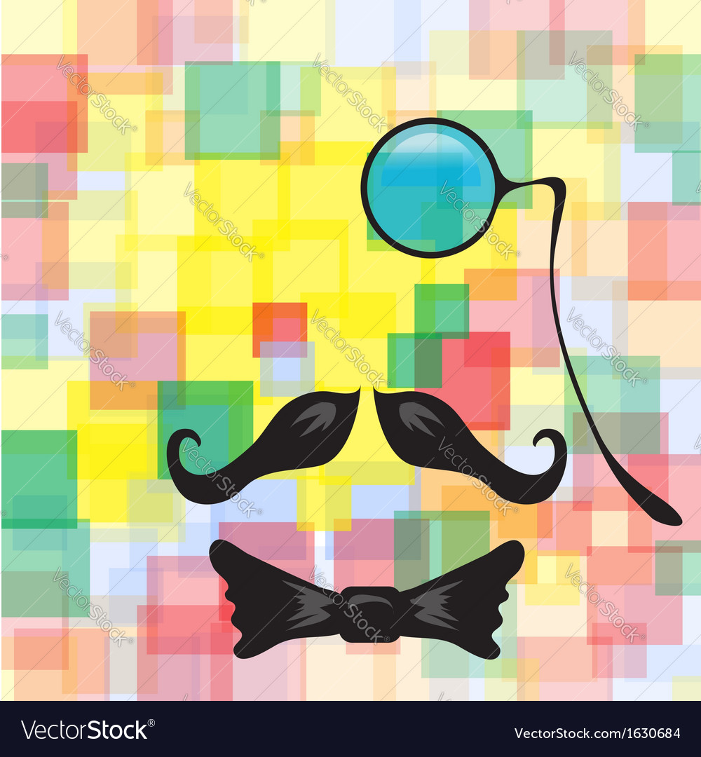 Vintage silhouette of mustaches monocle vector | Price: 1 Credit (USD $1)