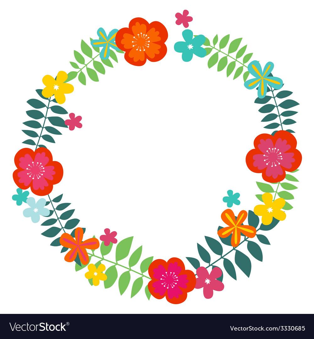 Floral wreath print vector | Price: 1 Credit (USD $1)